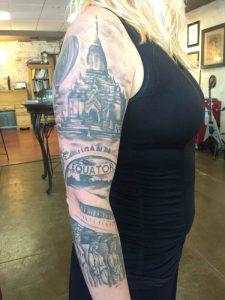 Black and grey sleeve, realistic tattoo, tattoo st Augustine