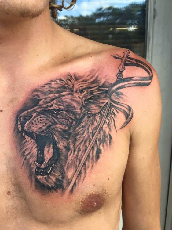 Lion Tattoo Lion Of Judah Jesse Britten Tattoo In St Augustine