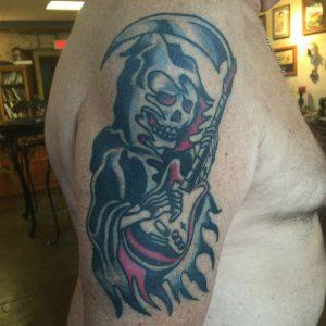 Traditional reaper tattoo, florida tattoo artist , st Augustine tattoo shop