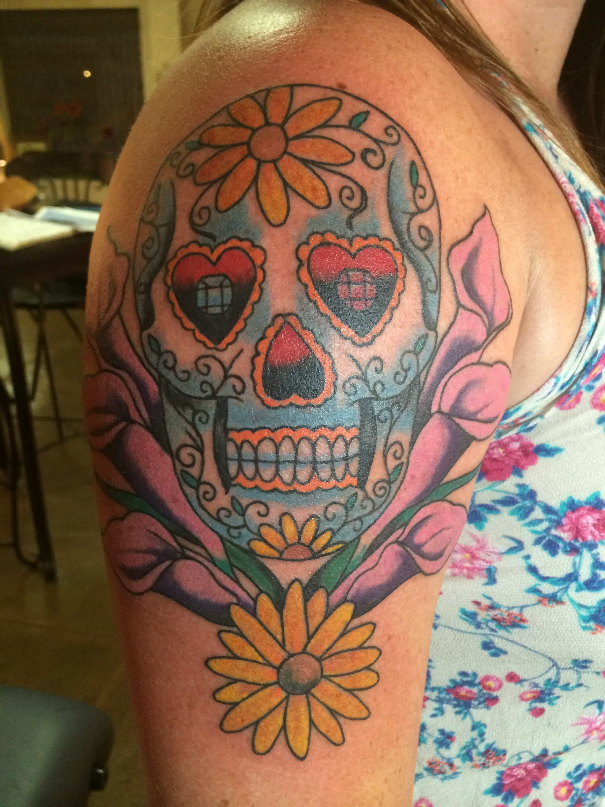 Traditional tattoo florida, sugar skull tattoo, sugar skull tattoo florida
