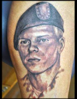 soldier memorial tattoo, soldier portrait tattoo ,black and grey portrait tattoo ,portrait tattoo florida , portrait tattoo artist st augustine