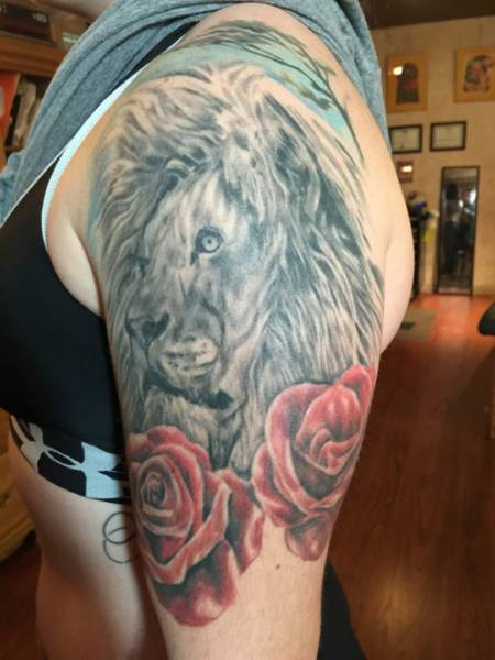 lion tattoo, lion tattoo st augustine , lion tattoo florida , tattoo artist st augustine